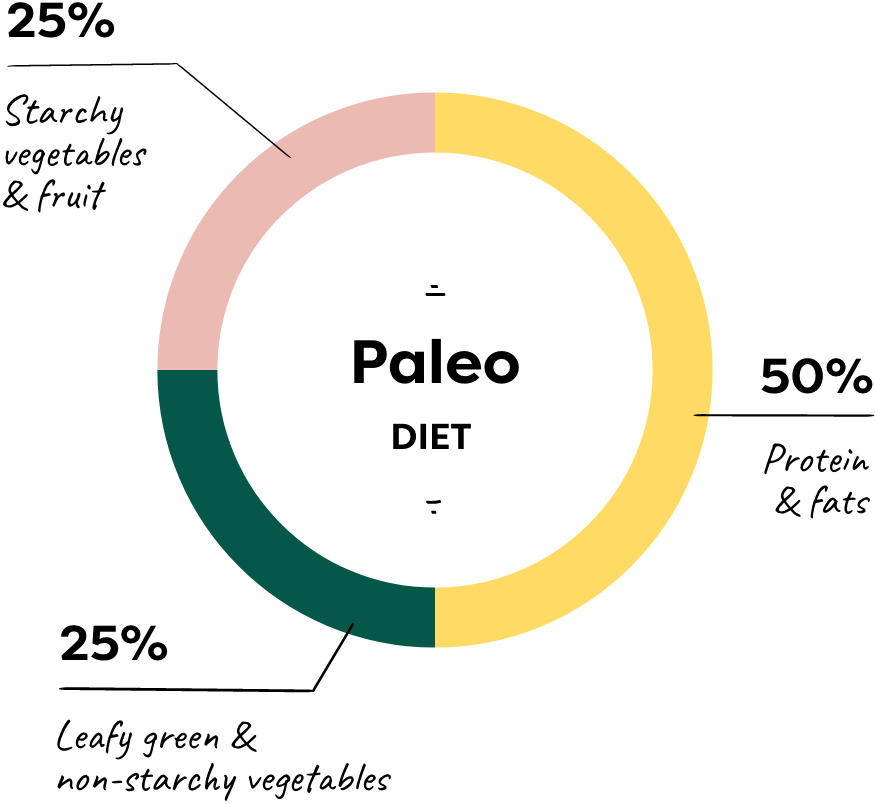 vegan paleo pie chart
