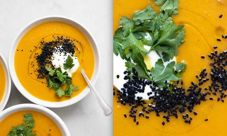Spiced Carrot and Butternut Squash Soup image