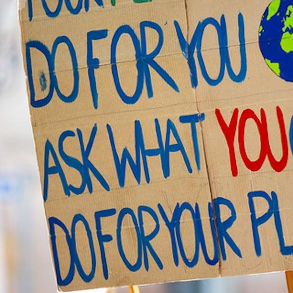 Environmental campaign sign