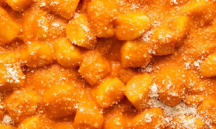 Homemade Gnocchi w/ Creamy Tomato Red Pepper Sauce image