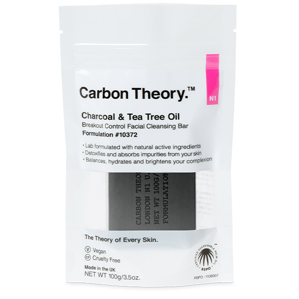 Carbon Theory Soap in packaging