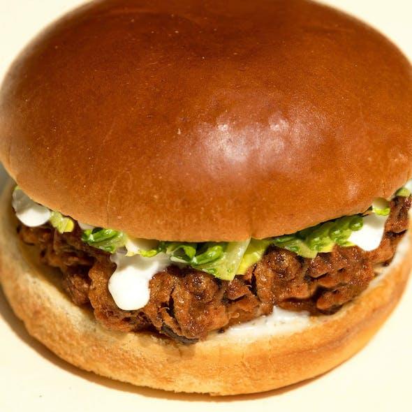 vegan fried chicken burger