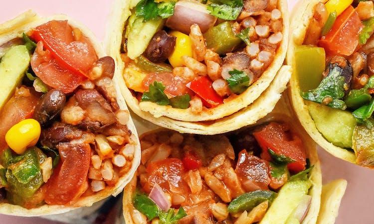 Vegan Bean + Rice Burrito Wraps image