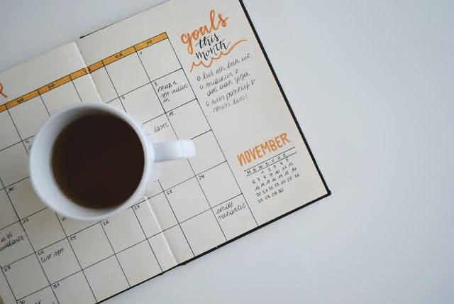 coffee and a diary