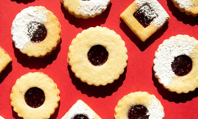 vegan linzer biscuits