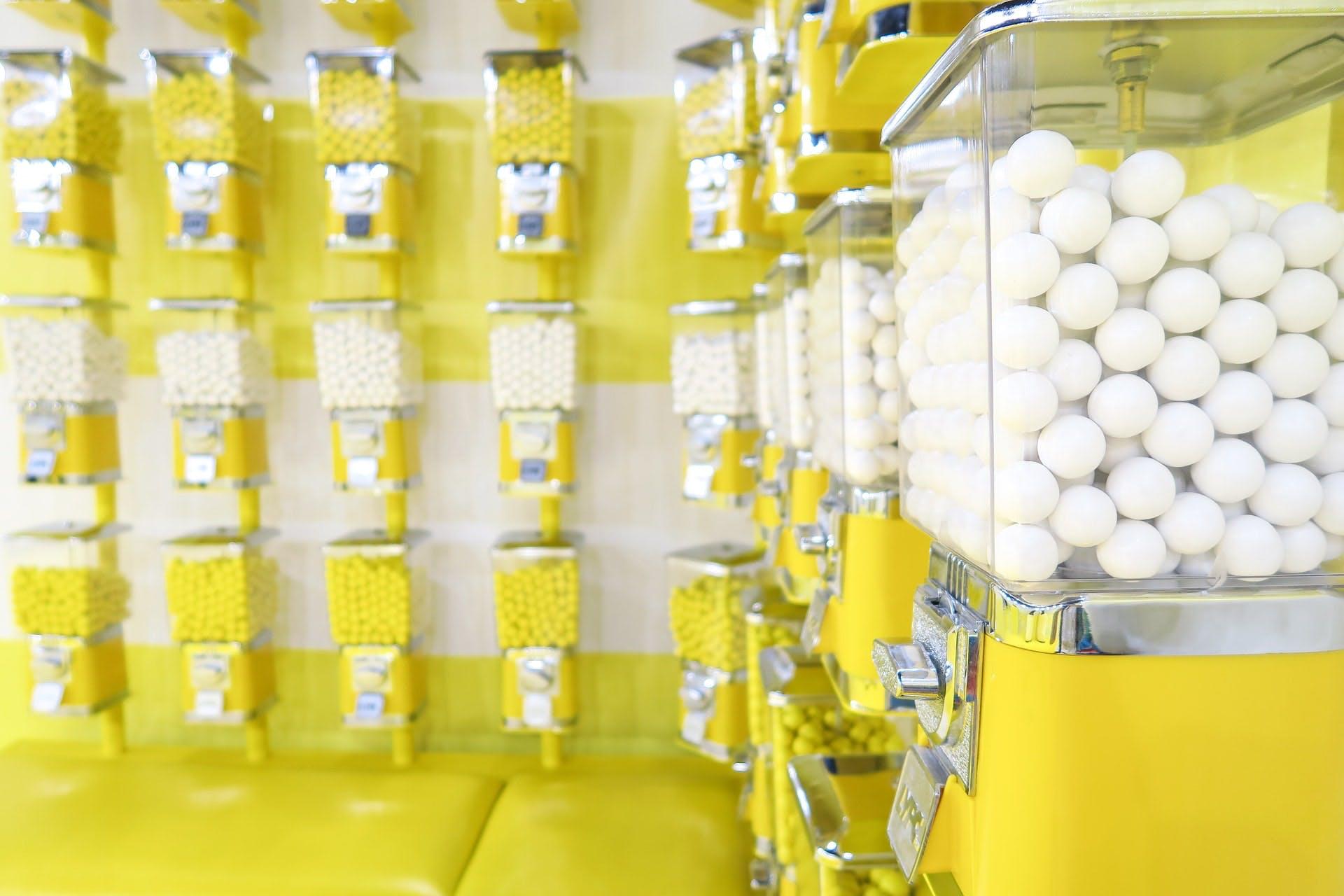 mints in a vending machine