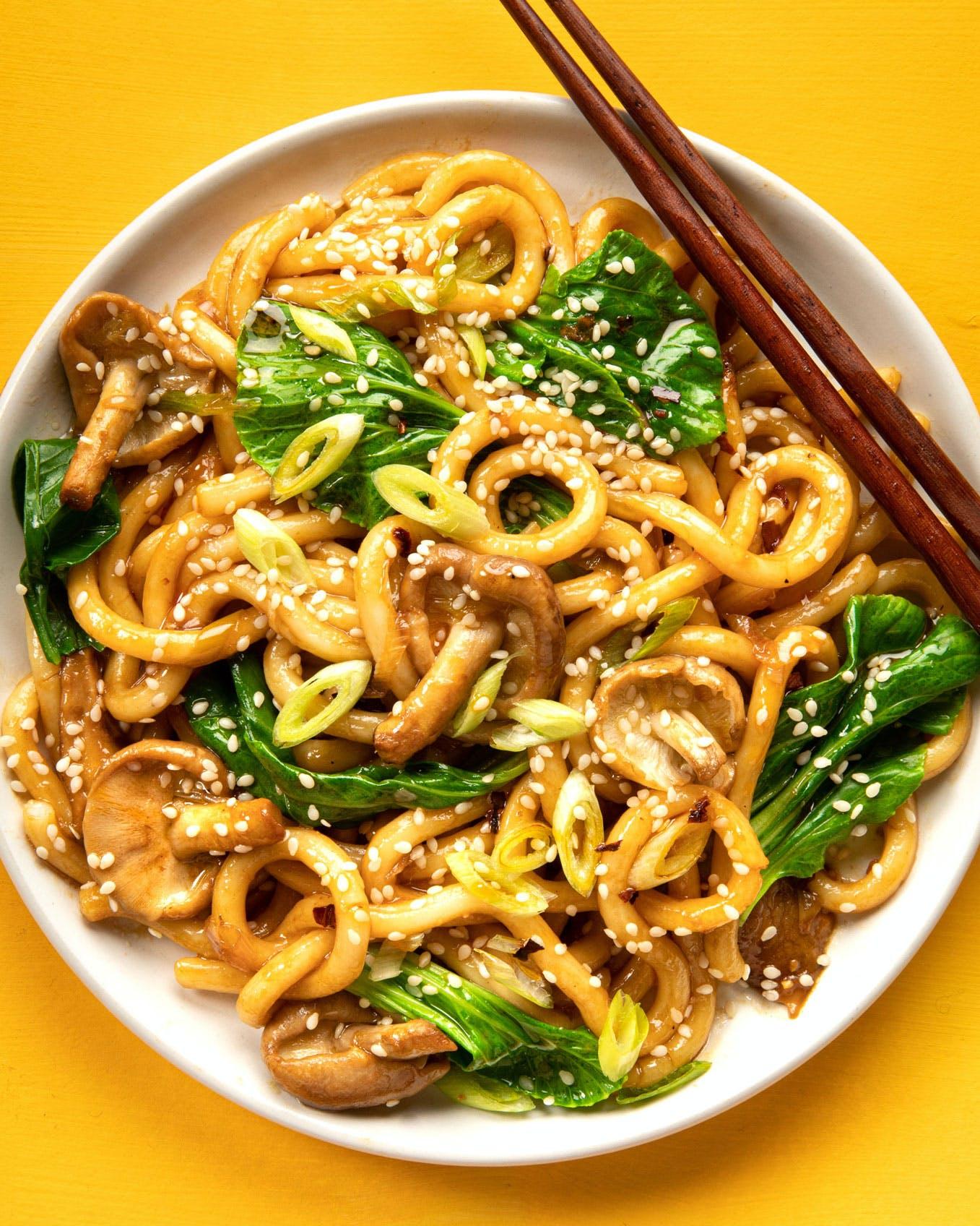 mushroom and ginger stir fry