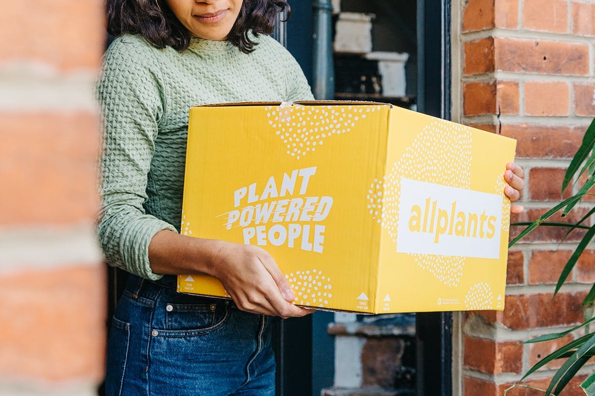 person and allplants delivery