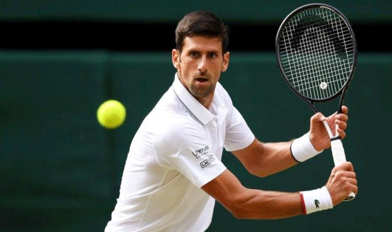Novak Djokovic playing