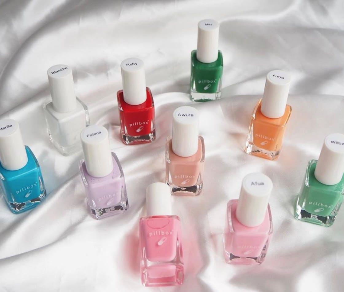 colourful nail polish bottles
