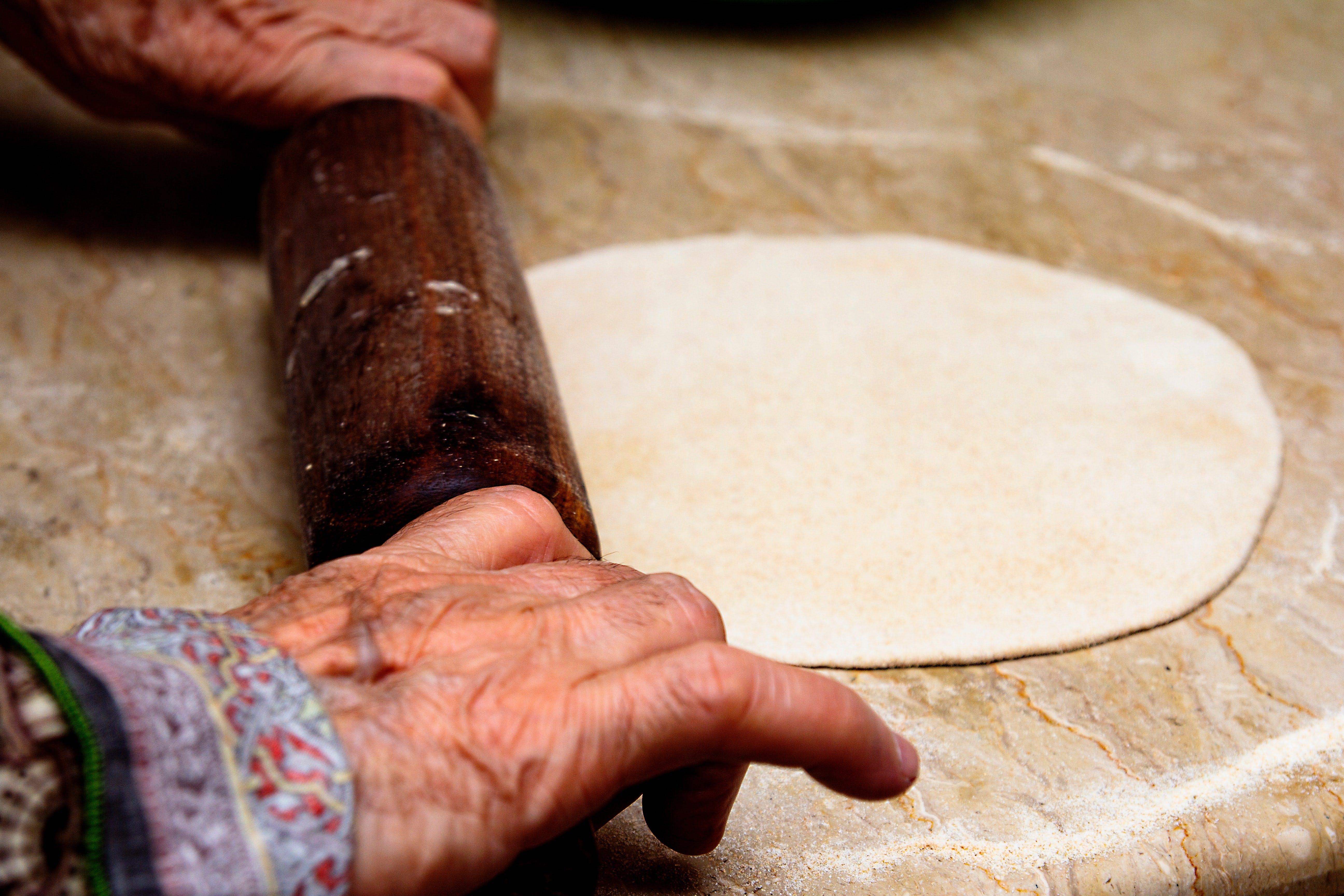dough bring rolled out flatt