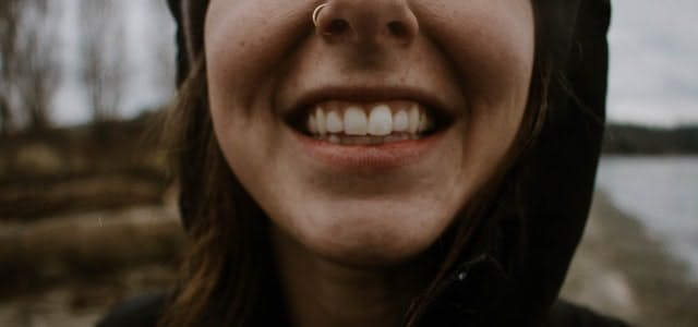 smile with teeth showing