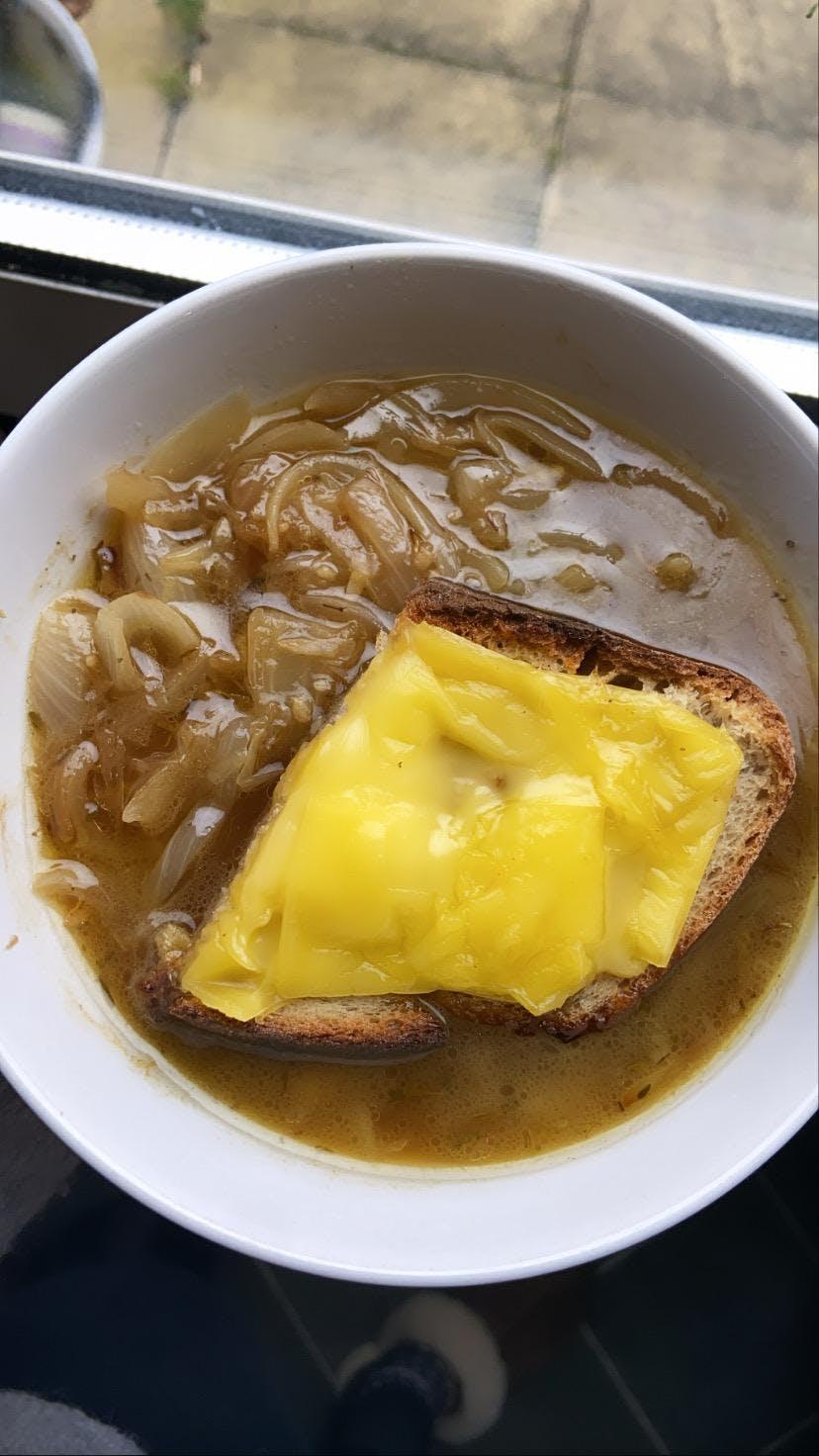 Mona's french onion soup