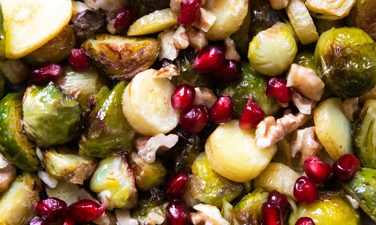 Parsnip and Brussels Sprouts Bake  image