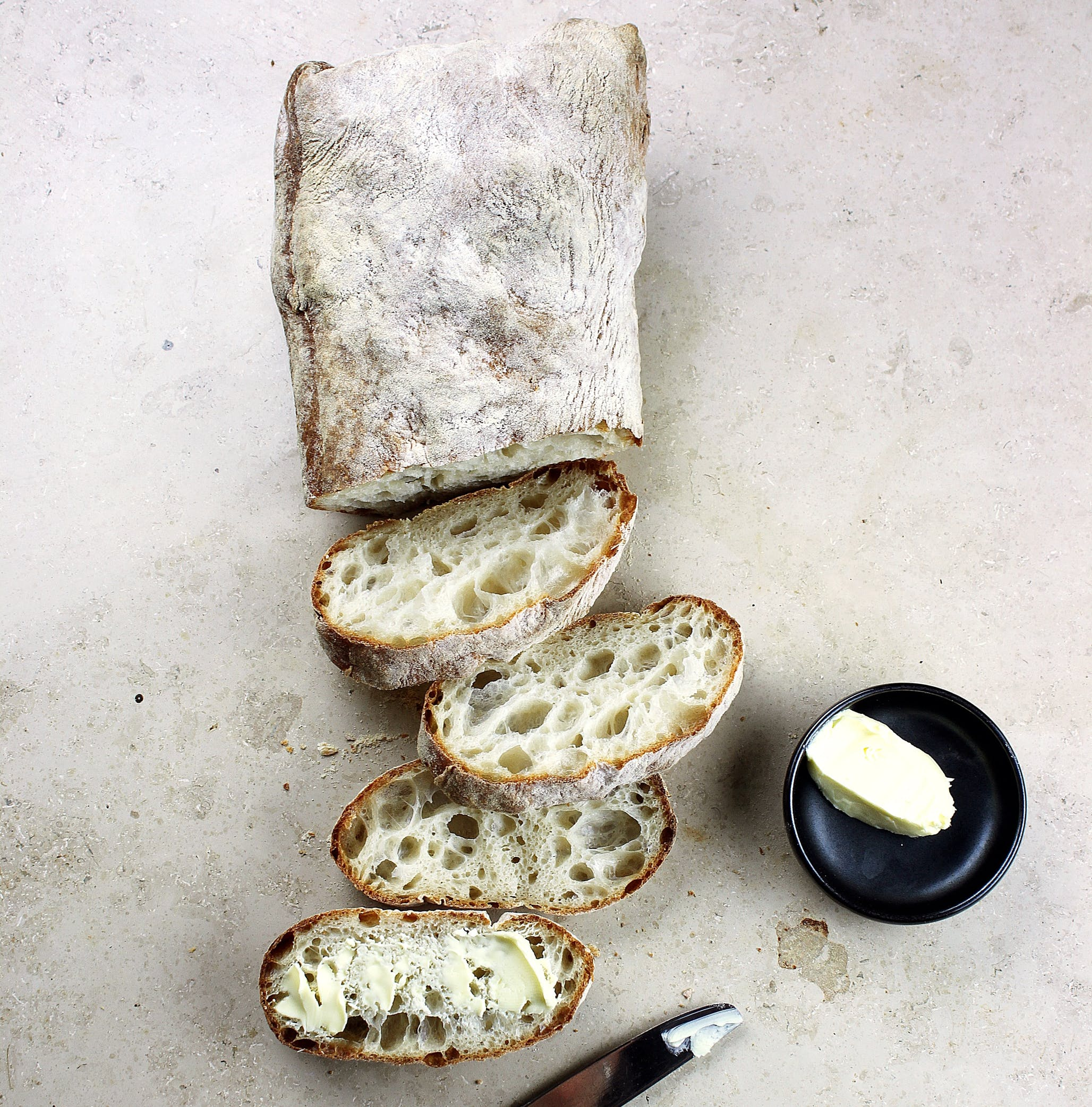 Ciabatta with butter