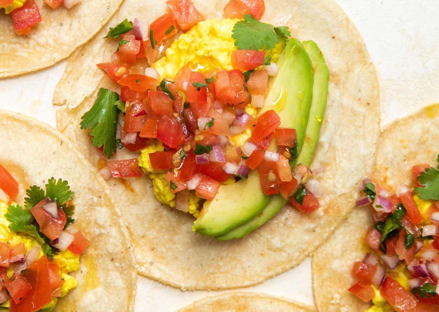 breakfast vegan tacos