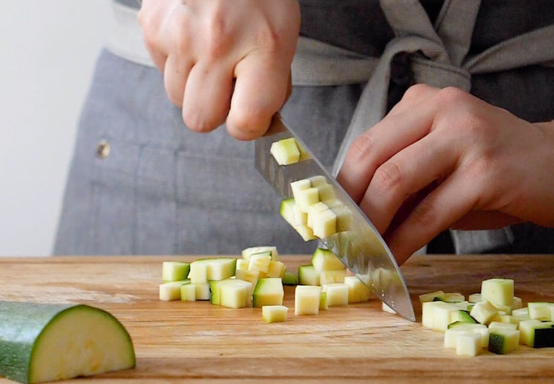 chopping veg
