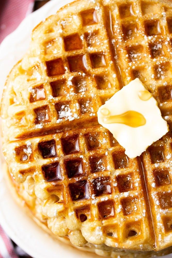 vegan flax waffles