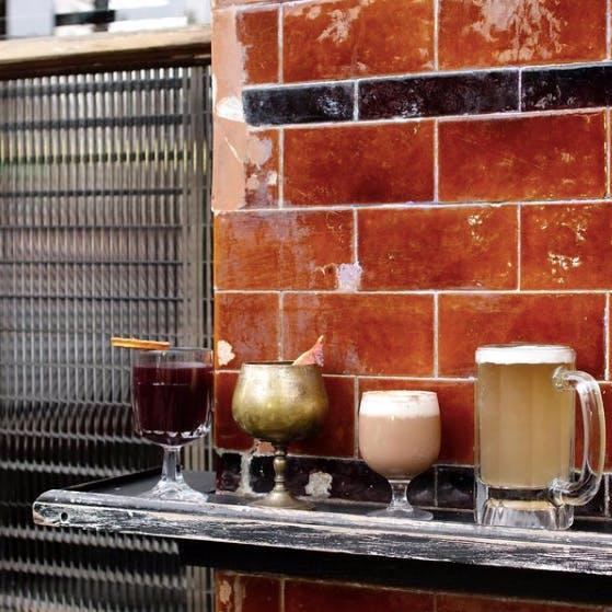 beverages outside the pub hatch