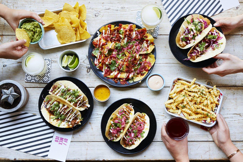 df tacos platter of food