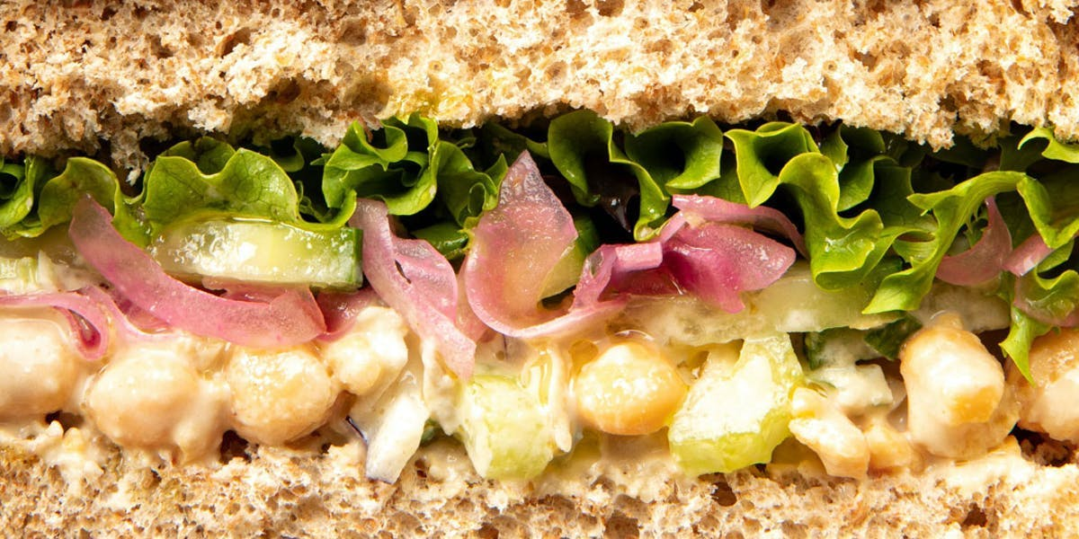 chickpea tuna sandwich