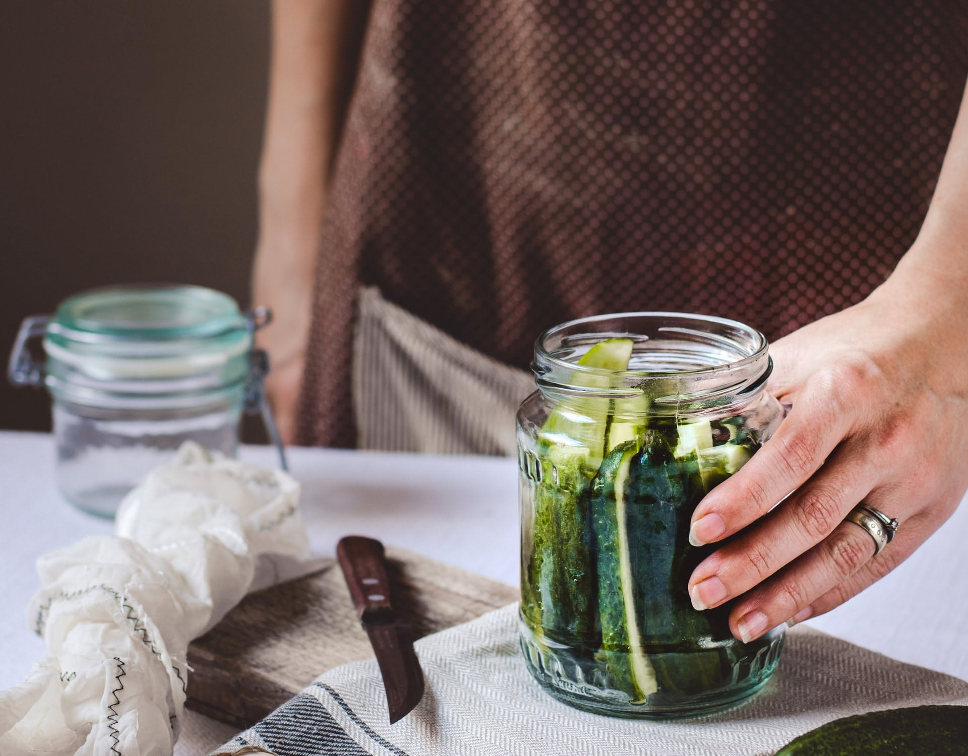 jar of gherkins