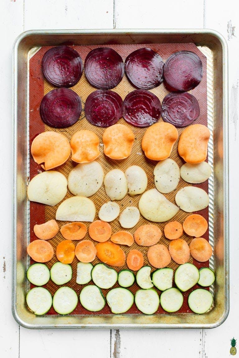 slices of vegetables