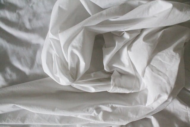 clean white sheets