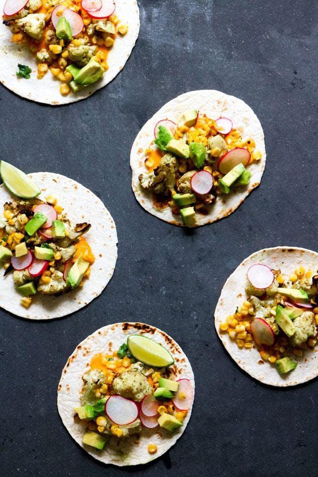 vegan nachos on black slate