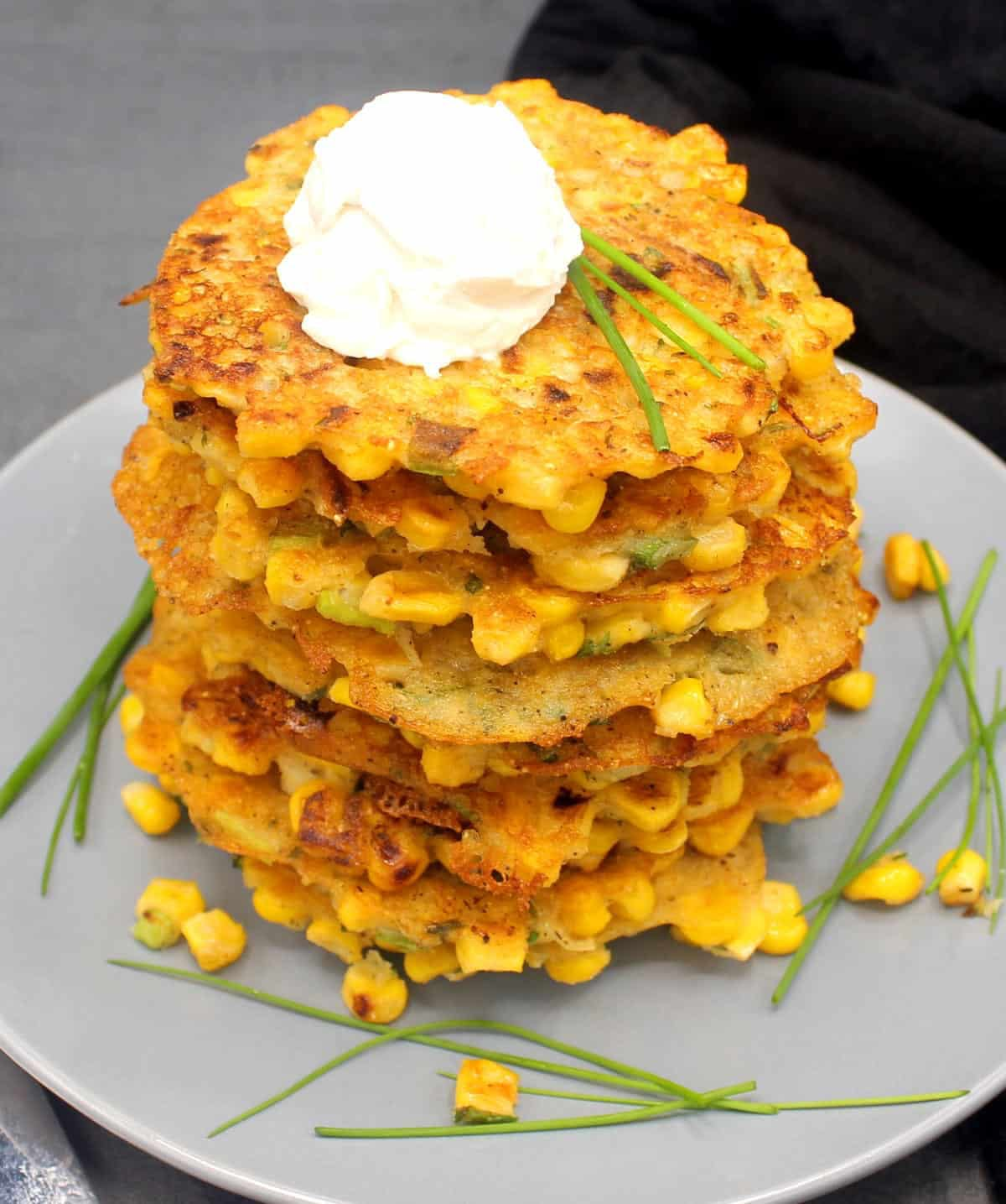 another stack of paler fritters