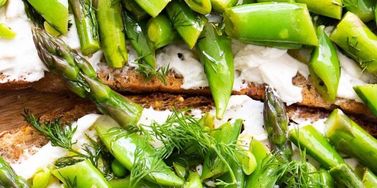 summer vegan bruschette