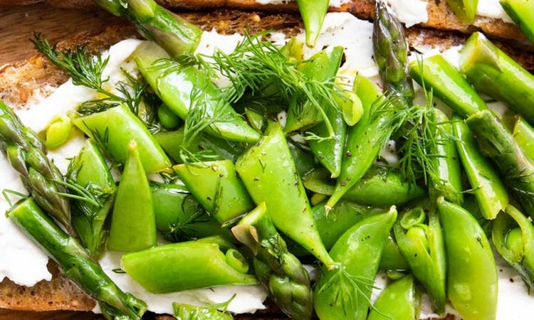 Spring bruschette