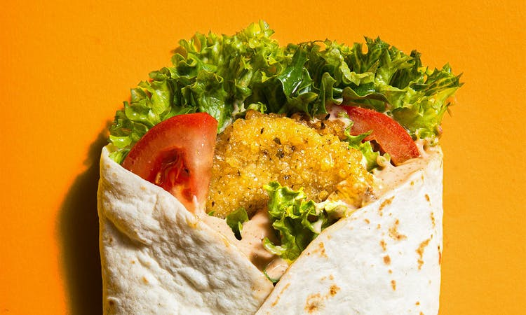 vegan chicken wrap