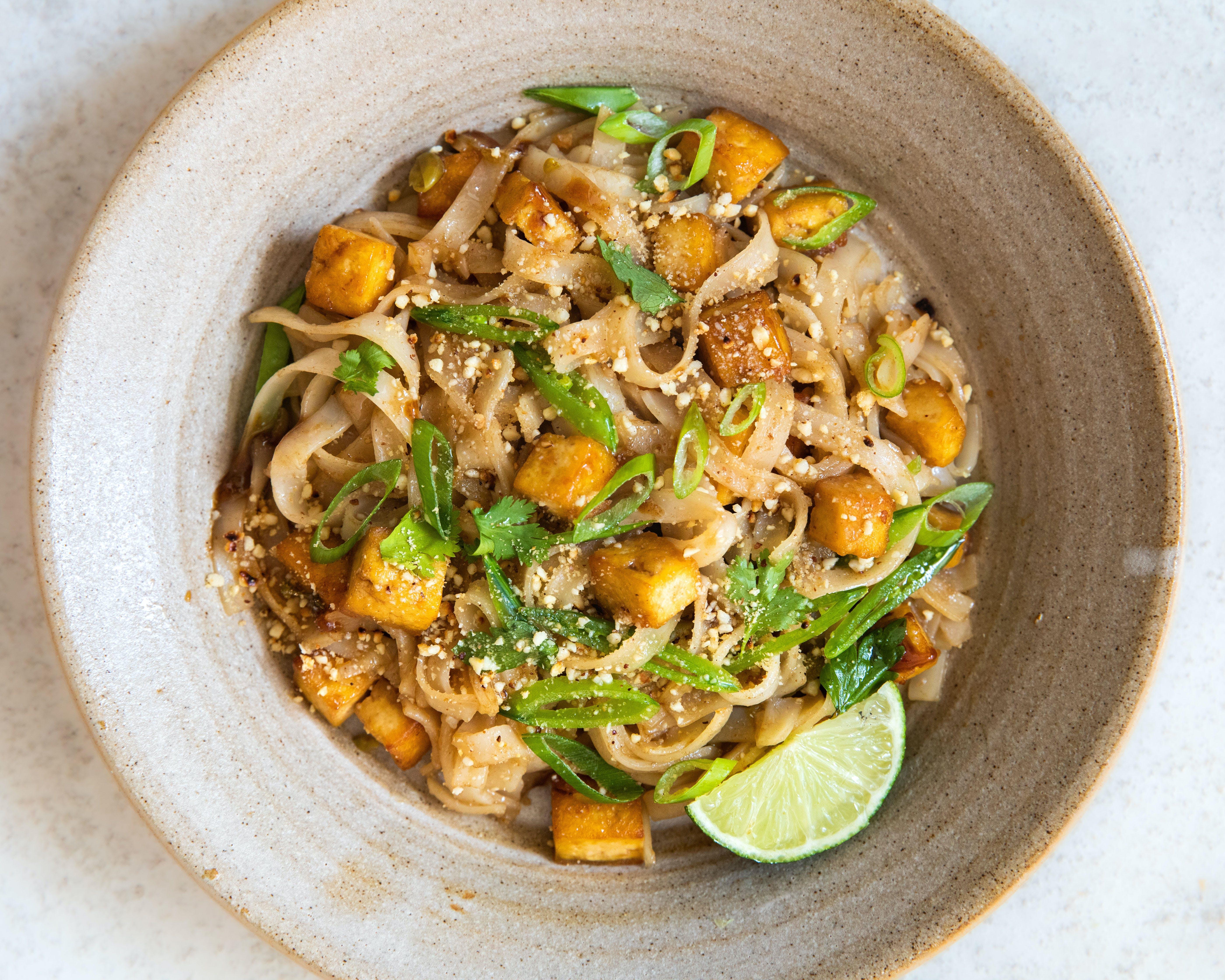 Pad Thai in a bowl