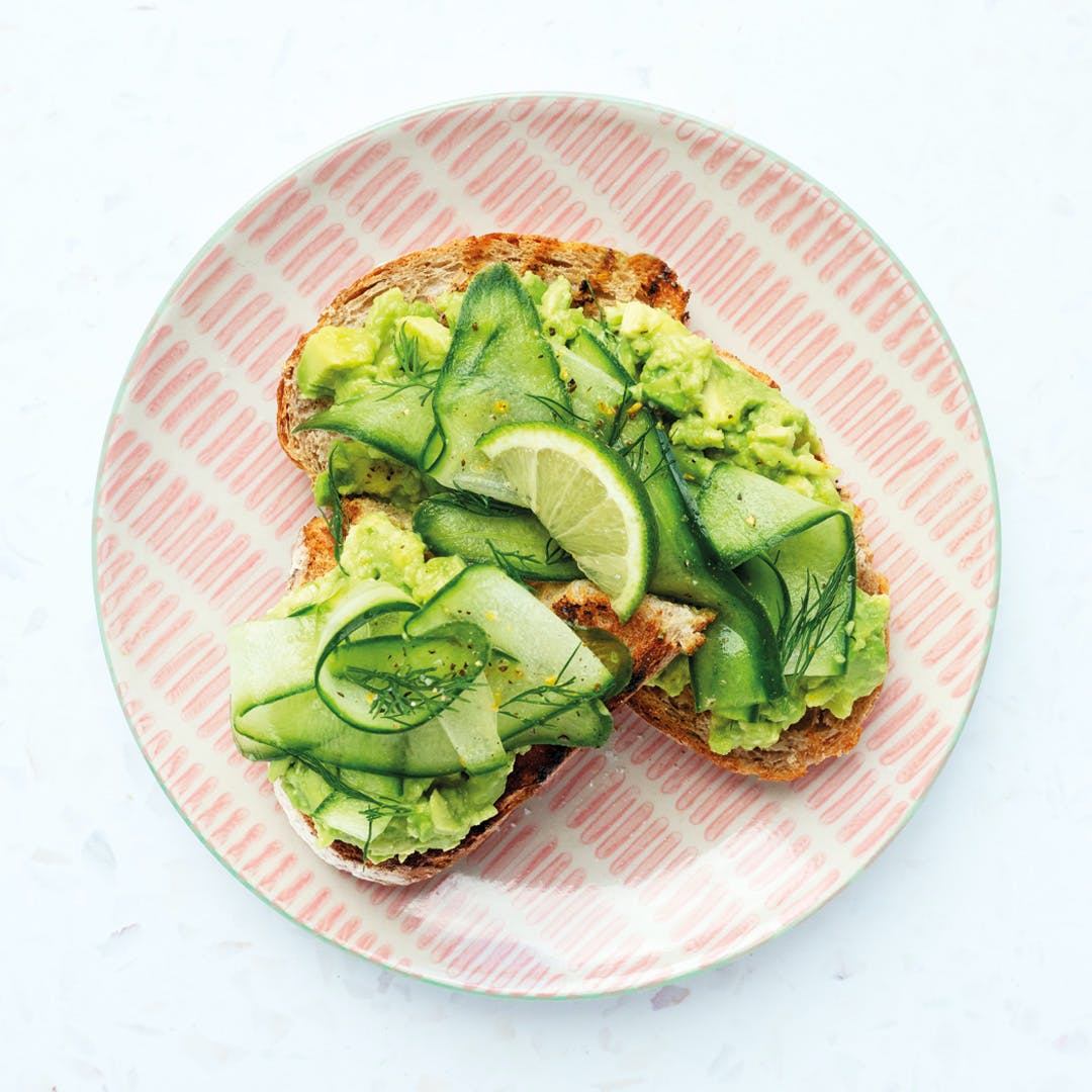 avocado-cucumber-dill-sourdough-toast