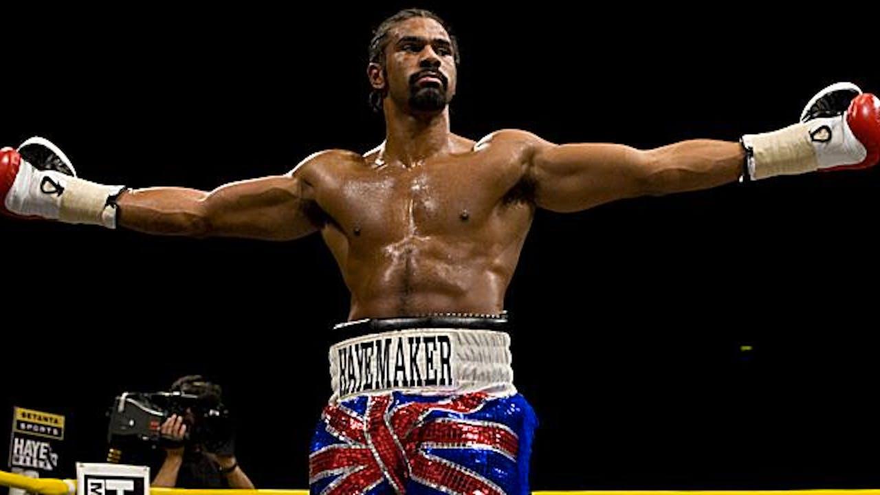 David Haye in boxing ring