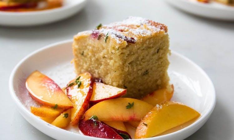 Peach and thyme cornbread