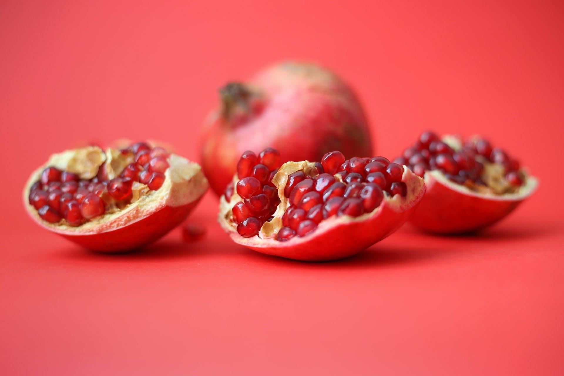 riped open pomegranate