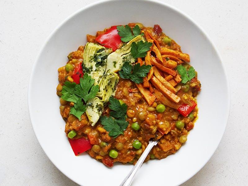 paella in a bowl