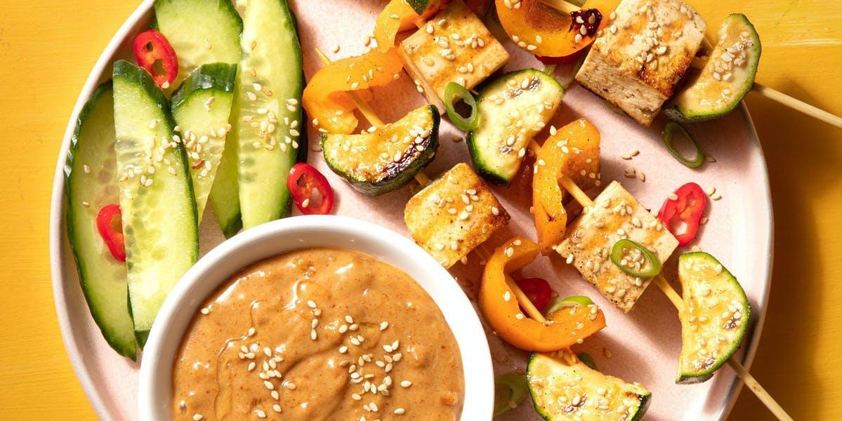 thai veggie skewers