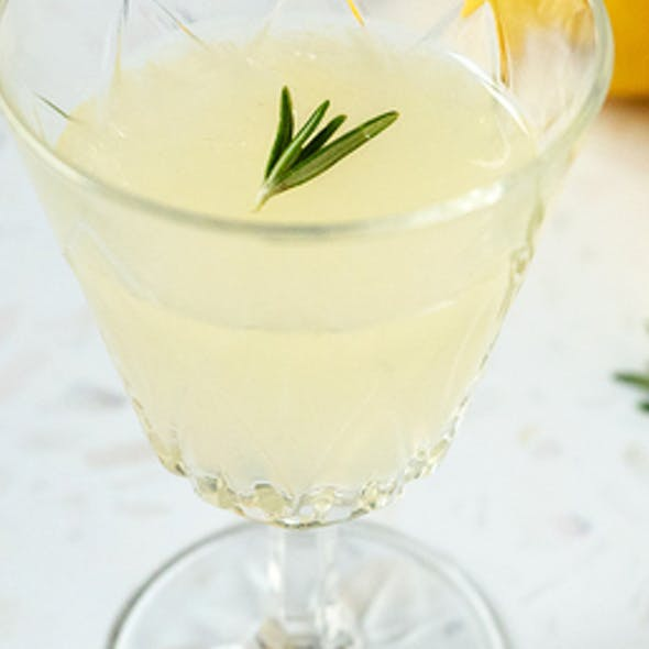 lemon and rosemary gin cocktail