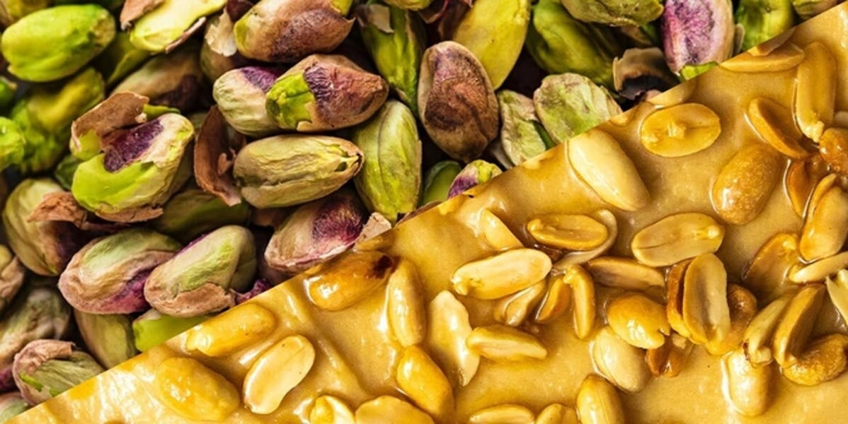 pistachio nuts and peanuts