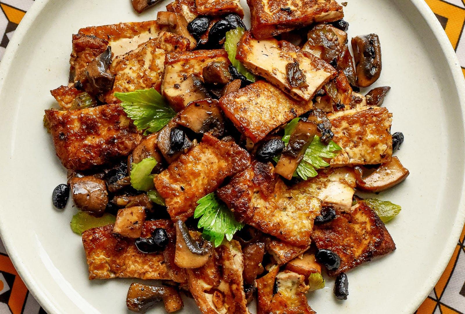 fermented black bean and tofu stir fry