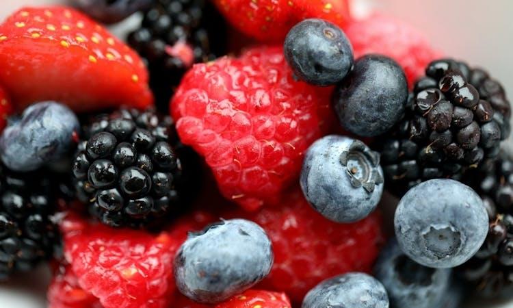 strawberries, raspberries, blueberries and blackberries
