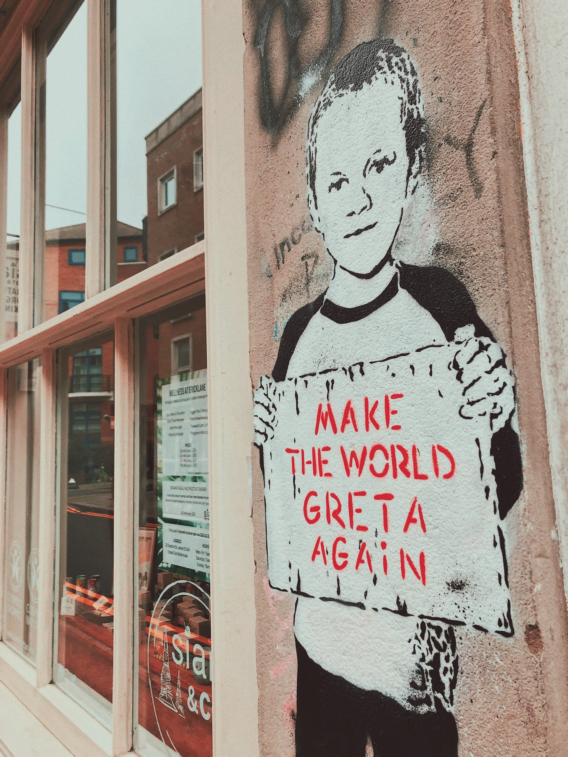 Street art of Greta Thunberg