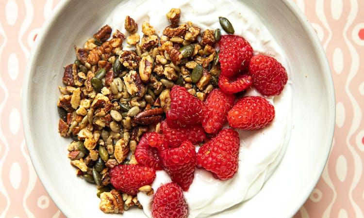 vegan coconut yoghurt with keto Granola
