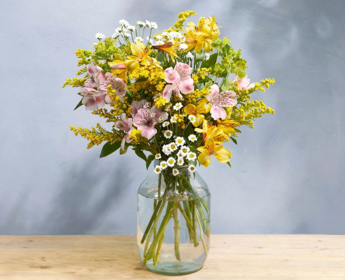 fresh bouquet of flowers in a vase