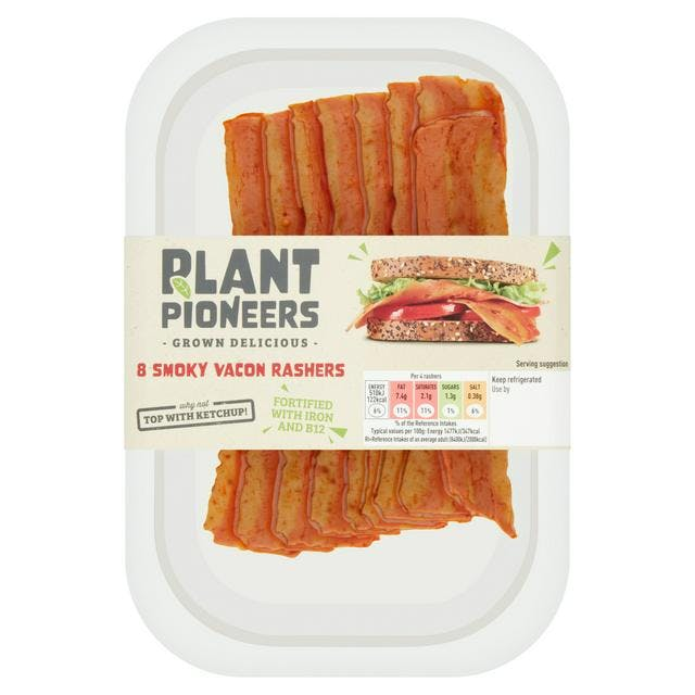 vegan bacon in its packet