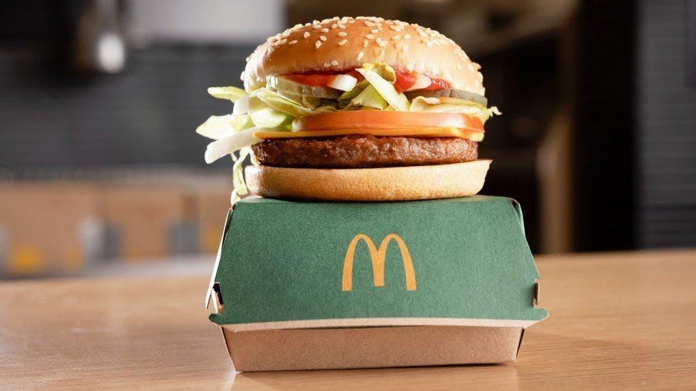 McPlant vegan burger