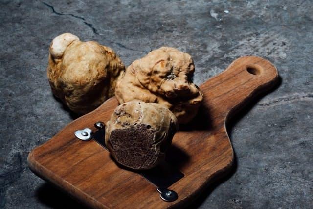 a board of truffles